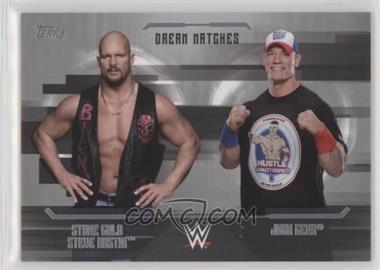 2017 Topps WWE Undisputed - Dream Matches - Silver #D-6 - John Cena, Stone Cold Steve Austin /50