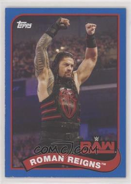 2018 Topps Heritage WWE - [Base] - Blue #63 - Roman Reigns /99