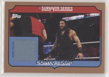 2018 Topps Heritage WWE - Survivor Series Mat Relics - Bronze #SS-RR - Roman Reigns /99