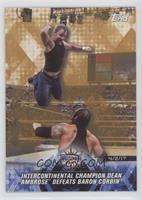 Intercontinental Champion Dean Ambrose Defeats Baron Corbin