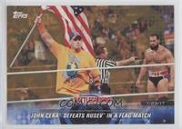 John Cena Defeats Rusev in a Flag Match