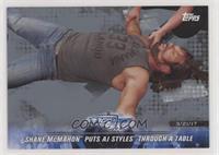 Shane McMahon Puts AJ Styles Through a Table #/25