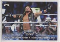 AJ Styles Defeats Dean Ambrose in a Tables, Ladders & Chairs Match #/1