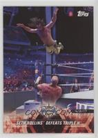 Seth Rollins Defeats Triple H