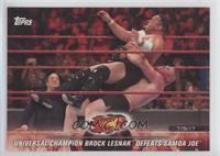 Universal Champion Brock Lesnar Defeats Samoa Joe [EXtoNM]