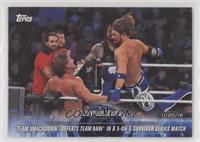 Team SmackDown Defeats Team Raw in a 5-on-5 Survivor Series Match