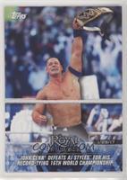 John Cena Defeats AJ Styles for his Record-Tying 16th World Championship