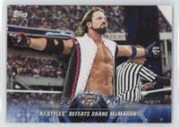 AJ Styles Defeats Shane McMahon