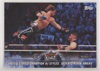 United States Champion AJ Styles Defeats Kevin Owens