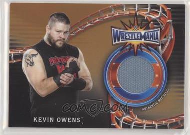 2018 Topps WWE Road to Wrestlemania - Wrestlemania 33 Mat Relics - Bronze #WM-KO - Kevin Owens /99