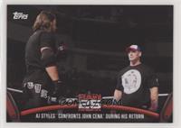 AJ Styles confronts John Cena during his return