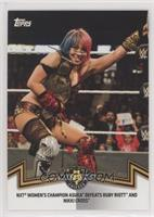 NXT Women's Division - NXT Women's Champion Asuka Defeats Ruby Riott and Nikki …