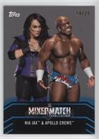 Nia Jax & Apollo Crews #/25