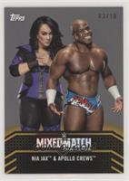 Nia Jax & Apollo Crews #/10