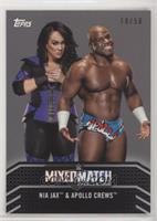 Nia Jax & Apollo Crews #/50