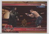 Roman Reigns Defeats John Cena