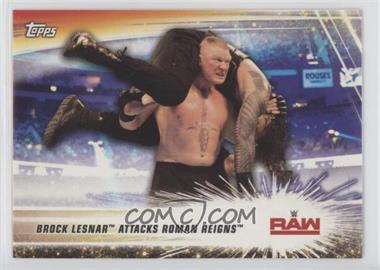 2019 Topps WWE Summerslam - [Base] #91 - Brock Lesnar, Roman Reigns