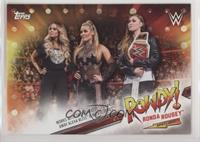 Ronda Rousey works with Trish Stratus to chase away Alexa Bliss, Mickie James