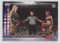 Sasha Banks And Charlotte Flair Main Event RAW In A Falls Count Anywhere Match