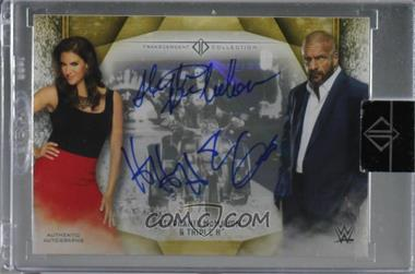 2019 Topps WWE Transcendent Collection - Transcendent Collection Dual Autographs #NoN - Stephanie McMahon, Triple H /50 [Uncirculated]