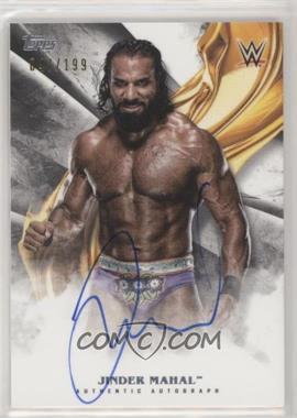 2019 Topps WWE Undisputed - Autographs #A-JM - Jinder Mahal /199