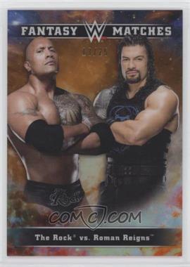 2020 Topps Chrome WWE - Fantasy Matches - Orange Refractor #FM-7 - Roman Reigns, The Rock /25