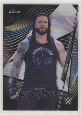 2020 Topps Finest WWE - [Base] - Black Refractor #60 - Roman Reigns /25