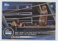 WWE Women's Tag Team Champions Alexa Bliss & Nikki Cross def. The IIconics #/25