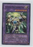 Mattel Action Figure Insert - Elemental HERO Thunder Giant (Parallel Rare)