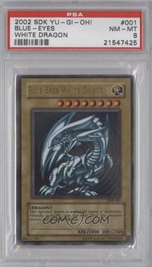2002 Yu-Gi-Oh! Starter Deck Kaiba - [Base] - Unlimited #SDK-001 - Blue-Eyes White Dragon [PSA8]