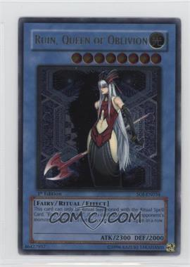 2006 Yu-Gi-Oh! Shadow of Infinity - Booster Pack [Base] - 1st Edition #SOI-EN034 - Ruin, Queen of Oblivion